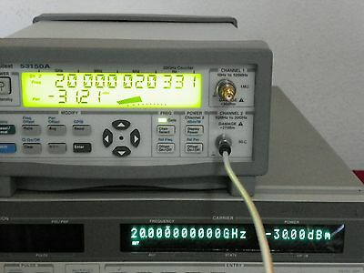 Agilent 53150A Microwave Frequency Counter/power meter 10Hz-20GHz Tested