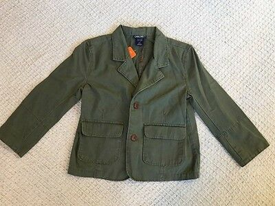 Children's/Toddlers Unisex Deep Green Button Up Style Jacket Long Sleeve Size 5T