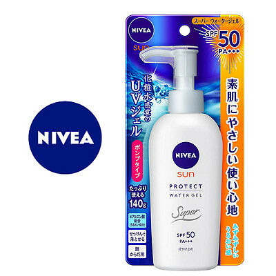 NIVEA SUN☆KAO Japan-SUNSCREEN Protect Water Gel SPF50/PA+++ 140g,JAIP