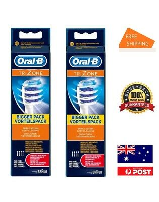 8 Oral B Trizone Tri Zone Braun New Oral-B Toothbrush Heads Replacement