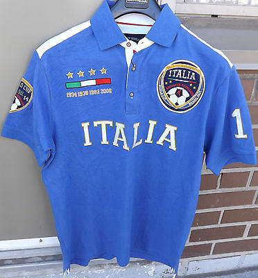 ABSOLUTE REBELLION NWT ITALY/ITALIA World Cup Brazil 2014 Soccer polo shirt #10