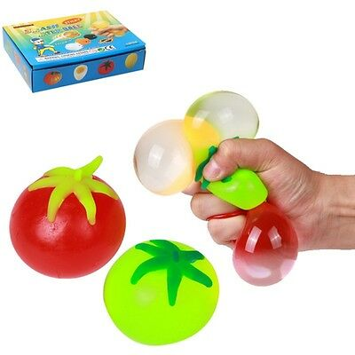 Multi-Color Anti Stress Ball Fruit Squeeze Hand Exercise Mood Relief Stressball