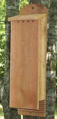2 Chamber Handcrafted Cedar Bat House Box Pest and Mosquito Control