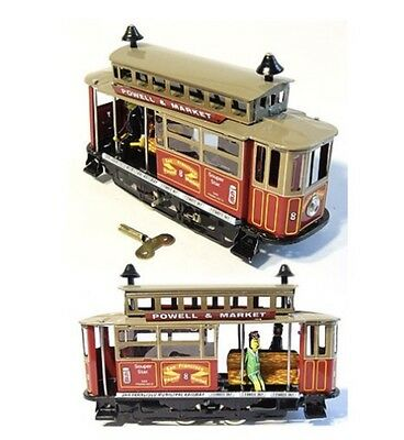 San Francisco Cable Car Wind Up Tin Toy World Famous Cable Car Tin Toy