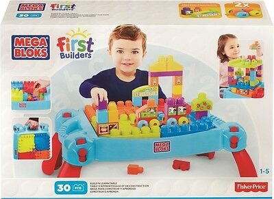 NEW Mega Bloks First Builders Build N Learn Table from Mr Toys