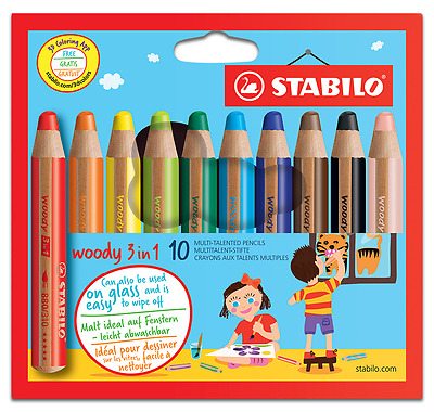 Stabilo Woody 3 in1 Multitalent-Stift 10er Packung XXL Mine