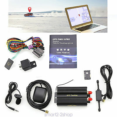 Vehicle Car Tracker TK103A Tracking Device Alarm System GPRS SMS GSM  sp22