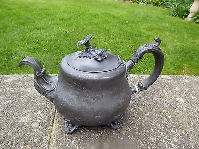 Victorian (E.Stacey) Pewter Teapot