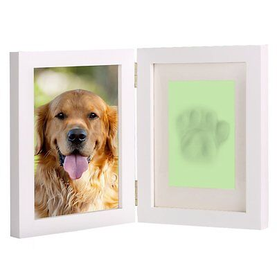 Pet Frame Dog Cat Photo Picture Personalised Gift Print White Memorial Paw Desk