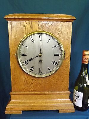 Golden Oak Single Fusee Bracket Clock C1910.