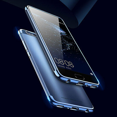 NEW Shockproof Ultra-thin Plating Soft TPU Clear Case Cover For HUAWEI P10 Plus