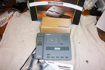 New New Dictaphone Model 3740 Micro Cassette Dictation Unit With New Mic