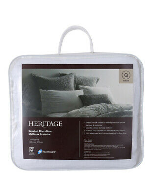 NEW Heritage Brushed Microfibre Mattress Protector