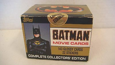 1989 Topps Batman Movie Trading Cards Series 1 Sealed New 143 Glossy Cards