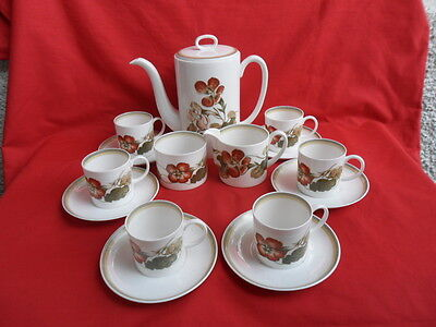 Susie Cooper, Nasturtium, Complete Coffee Set (21 pieces) reduced!