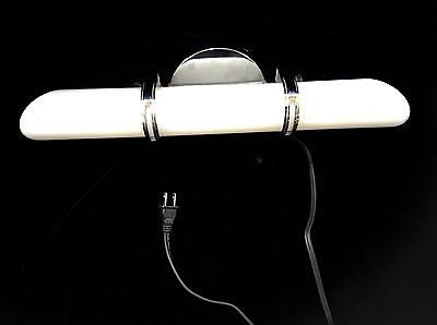 Art Deco Chrome Bathroom/Vanity Light Fixture with Frosted Glass Tube