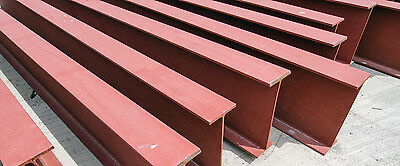 "Construction Steel I Beams 8"" inch (Web) x 5-1/2"" Inch (Flange) 15 to 40 feet"