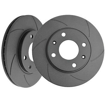 Black Diamond 6 Groove Solid Front Brake Discs Vauxhall Astra Mk3 1.4 (91 > 96)