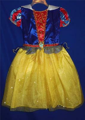 Girls Disney Princess Snow White Dress Up CosPlay Costume NEW M (8-10)