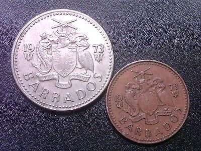 Barbados   1  Cent    1973    25  Cents   1973