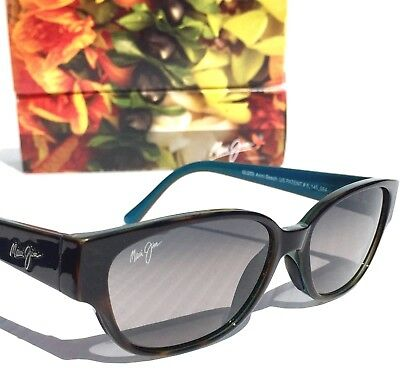 NEW* Maui Jim ANINI BEACH Tortoise Blu POLARIZED Grey Women's Sunglass GS269-10P
