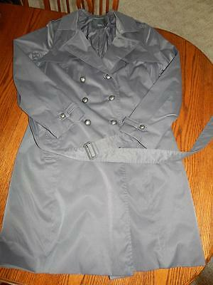Women's Mossimo Gray Double Breasted Trench Coat Size Xl