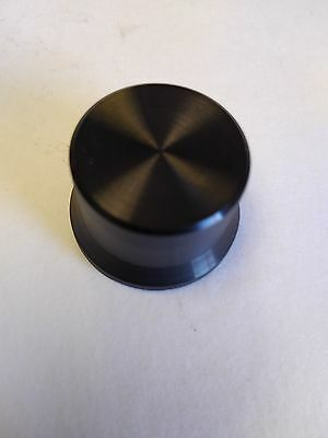 "Universal Black round 1 3/16 in VOLUME CONTROL AUDIO 1/4"" shaft  KNOB"