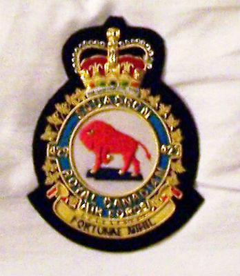 Royal Canadian Air Force RCAF WWII Fighter 429 Bison Squadron Group Wing Patch