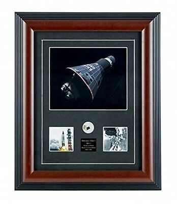 NASA Mercury Atlas-1 Space Capsule Framed Print + Rene 41 Alloy Piece Relic Coa