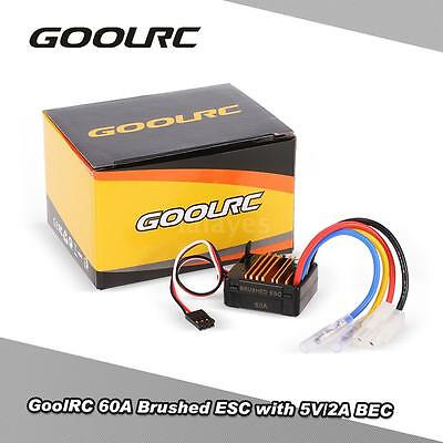 GoolRC 60A Brushed ESC Speed Controller w/5V/2A BEC for 1/10 RC Crawler Car N7D0
