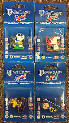 Peanuts RARE Hat Pin 4 Piece Set Snoopy Woodstock Charlie Brown