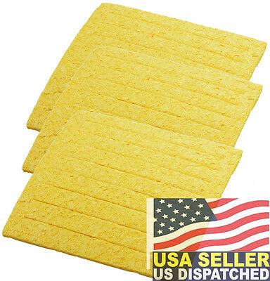 Weller TC205 ( PACK OF 3 ) Soldering Sponge, For PH Stands Made In USA