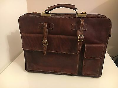 The Bridge Tracolla Messenger Shoulder Bag Leather In Great Condition Used