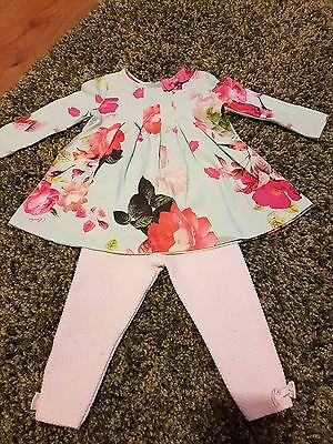 Ted Baker Baby Girls Outfit - Top & Leggings 9-12 Months