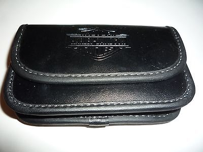 """NEW Harley Davidson Phone Case Black Leather Magnet Closure 4 1/2"""" by 3"""""""