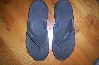 Merrell Men's Size 11 Flip Flops Black Air Cushion Sole