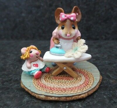 Wee Forest Folk WFF Ironing Dolly's Doily M291 Collectible Mouse w/ Box