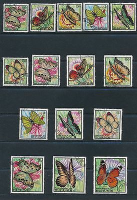 Burundi (1968) BUTTERFLY ISSUES #240-254; CTO; BEAUTIFUL STAMPS