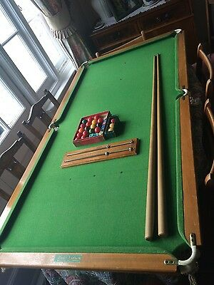 Walter Lindum Vintage Snooker table top with accessories
