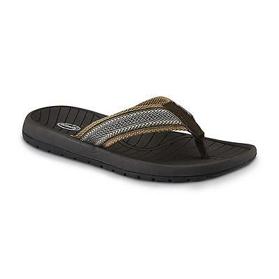 Dr. Scholl's Men's Corbin Canvas Flip-Flop - Brown/Taupe Mens 10 M