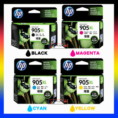 4 HP Original 905XL BK/C/M/Y Set High Capacity Ink for Officejet 6950/6960/6970