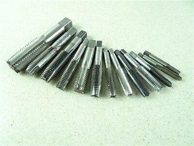 "Lot Of 13 Hss Taps 5/16""-24Nf To 1""-8Nc Bay State Union"
