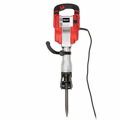 15 Amp 35 lb. Pro Demolition Hammer Kit Anti-vibration .