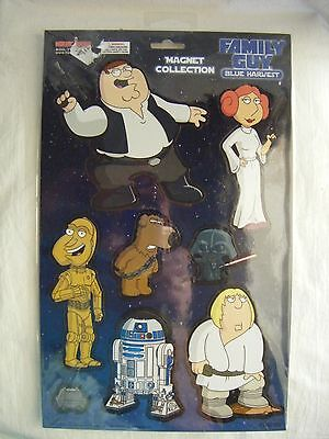 Family Guy Blue Harvest ~ 8 Magnet Collection ~ Star Wars Spoof~New Still Sealed
