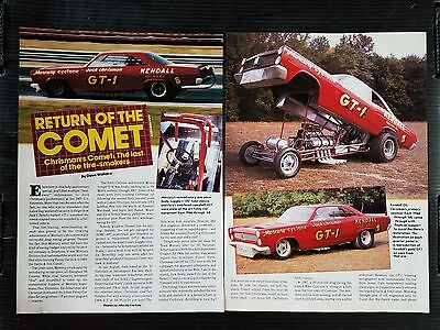 Jack Chrisman Mercury Cyclone Comet - 6 Page Article - Free Shipping