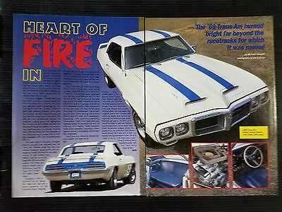1969 Pontiac Trans-Am - 2 Page Article - Free Shipping