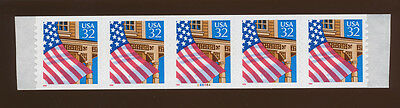 USA  PNC5 - scott 2915A    S/A flag/porch plate #88888A