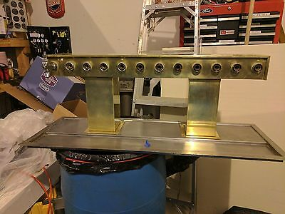 Perlick 12-Tap Glycol-Ready Beer Tower Bridge with SS Drain Baseplate