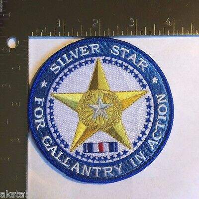 Silver Star Medal Commemorative Patch