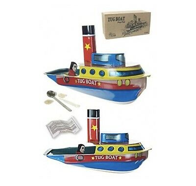 Tug Boat Texas Tin Toy Steamer Candle Powered Pop Pop Boat Putt Tin Collectible